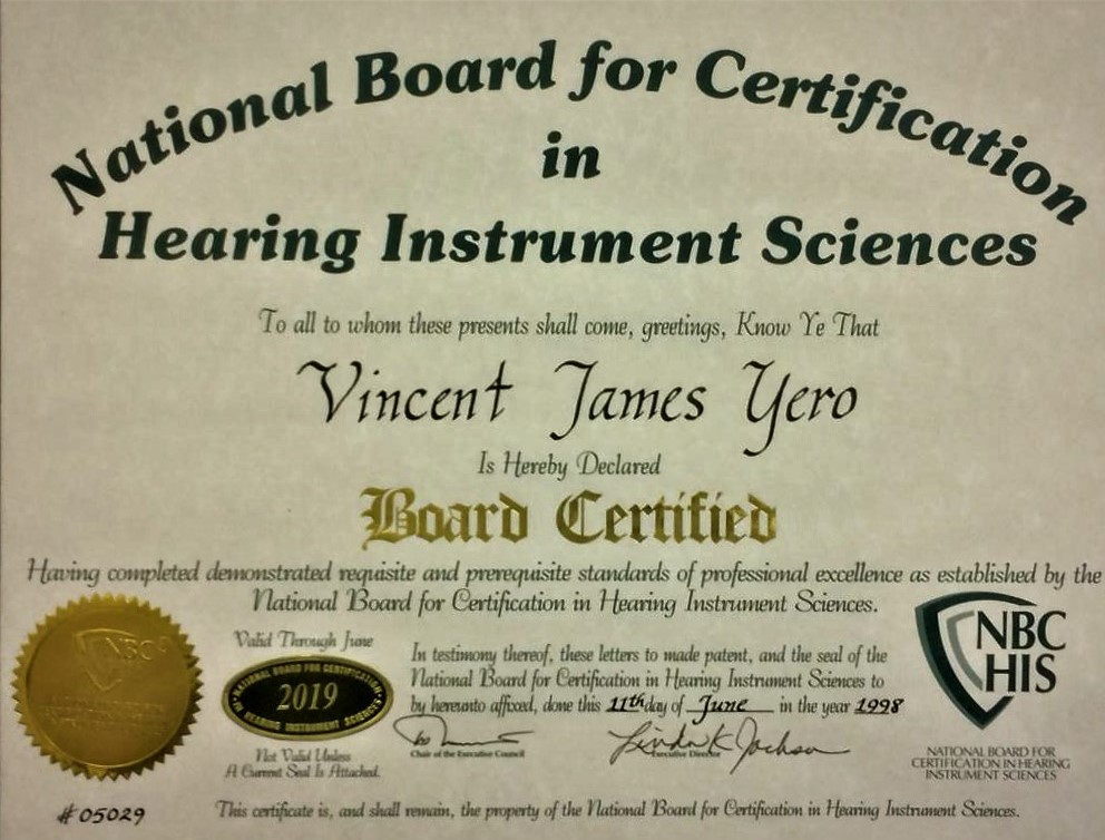 nbs his national board certification for vj yero